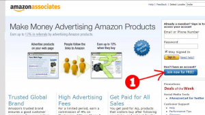 amazon associate's webage showing how you can make money advertising amazon products