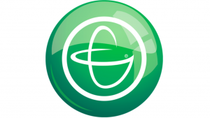 A screen shot of a green circle with white lines inside it