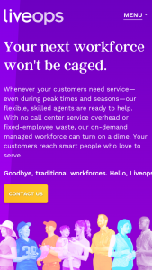a view of the liveops home page showing a legit and real company