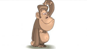 Cartoon Monkey Head - Clip Art Library