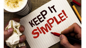 Writing Note Showing Keep It Simple Motivational Call. Business ...