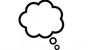 a black and white cartoon picture of a blank cloud