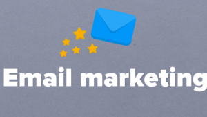 A picture of an envelope and the words email marketing