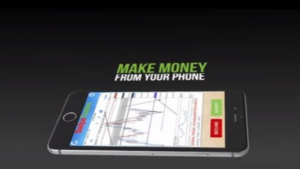 A picture of a cell phone and the words make money from your cell phone