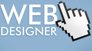 A computer picture of the words how to become a web designer