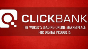 A picture of the words click bank, the world's leading marketing online place for digital currency