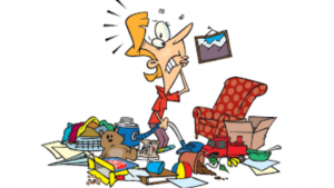 a cartoon picture of clutter