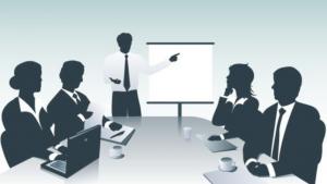 a cartoon picture of a seminar