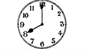 a black and white picture of a clock
