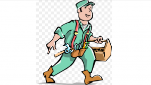 a cartoon picture of a handy man working