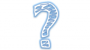 a picture of a blue and white question mark