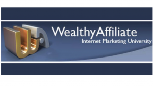 a picture of Wealthy Affiliates affiliate program, the WA logo