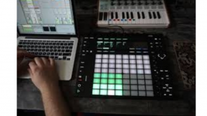 a picture of someone create music digitally
