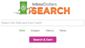 a picture of inbox dollar search and earn cash screen