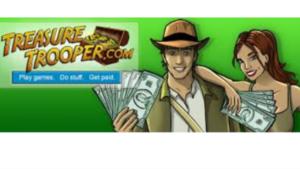 A picture of the website TreasureTrooper