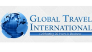 A picture of Global Travel International and a globe