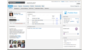 A screen shot picture of the website associatedcontent.com