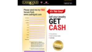 a screenshot pictures of cash4gold website